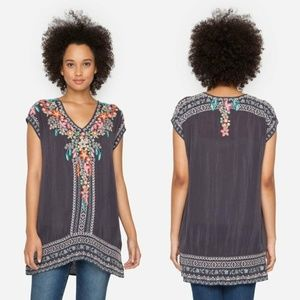 JOHNNY WAS Letty Tunic Embroidered Plus Size Boho